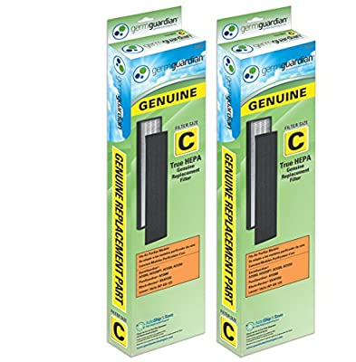 GermGuardian FLT5000 GENUINE True HEPA Replacement Filter C for AC5000 Series Air Purifiers, 2-Pack of Filters