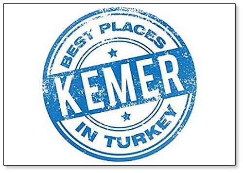 Kemer Turkey Fridge Magnet (Antalya Best Places To Visit)