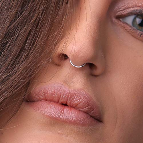 Amazon Com Faux Septum Ring In 925 Sterling Silver No Piercing