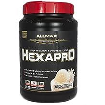 ALLMAX Nutrition Hexapro Ultra-Premium Protein MCT Coconut Oil French Vanilla 3 lbs 1 36 kg