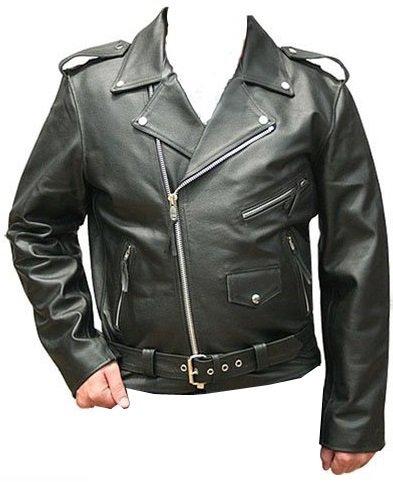 Hombre Chaqueta De Piel Rockabilly Marlon Brando, Biker Chaqueta con 5 x Protectores extraíbles Negro M: Amazon.es: Ropa y accesorios