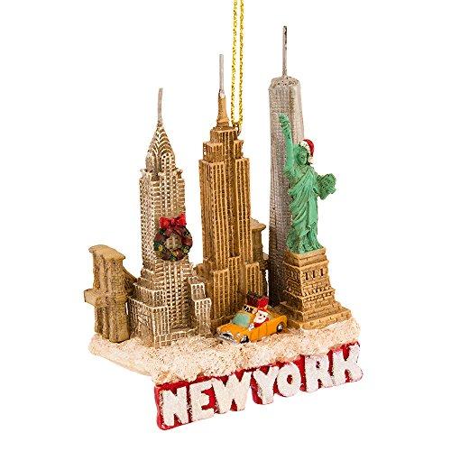 Kurt Adler 3.75 Inches Tall City Travel New York City Ornament (Christmas City Ny)