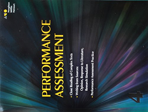 Houghton Mifflin Harcourt: Performance Task Assessment Student Edition Grade 4