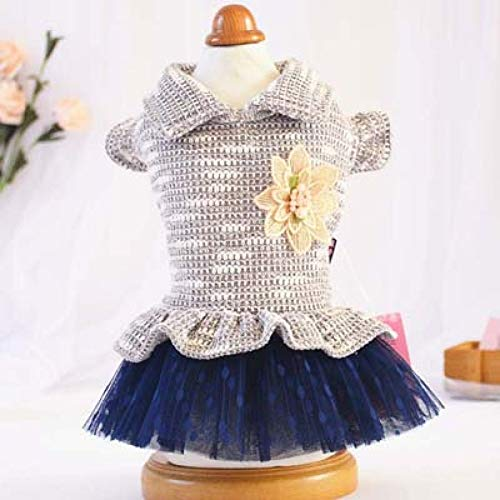 LVYING Princess Style Dog Clothes Dress Spring Summer Ruffled Tutu Sweater Skirt for Puppy Dogs Chihuahua Pet
