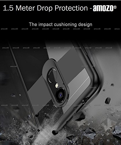 official photos 4edd1 2b725 Amozo Drop Protection With Camera Safety Sleek Transparent Soft Rubberised  Soft Silicon Back Case Cover For Redmi Note 5 - Black