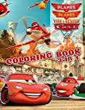 Coloring Book 3 in 1: Planes, Planes 2: Fire & Rescue, Cars 2
