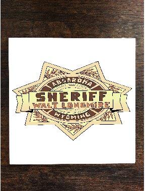 Sheriff BadgeイメージファンアートOne Pieceプレミアムセラミックタイルコースター4.25