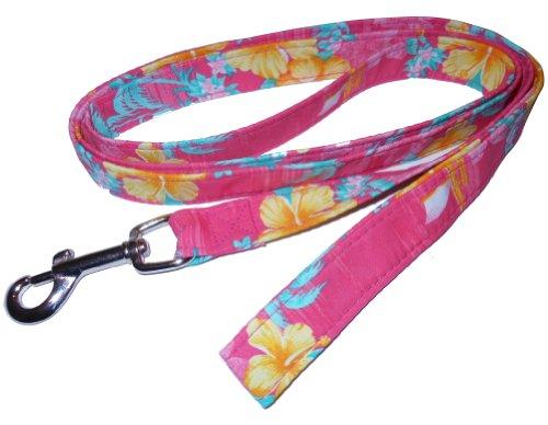 Beach Dog Palm Pet Leash, 1-Inch by 6-Feet, Pink