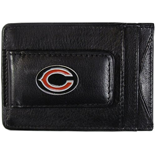 - NFL Chicago Bears Leather Money Clip Cardholder