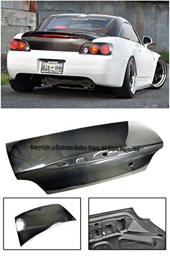 For 00-10 Honda S2000 OE Factory Carbon Fiber Replacement Rear Trunk Lid W/ Key Hole AP1 AP2 2000 2001 2002 2003 2004 2005 2006 2007 2008 2009 2010 00 01 02 03 04 05 06 07 08 09 (Honda S2000 Rear Spoiler)