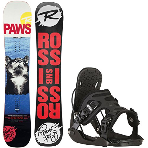 Rossignol Retox Amptek 153cm Mens Snowboard + Flow Alpha Bindings - Fits US Mens Boots Sized: 8,9,10,11 (Snowboard Packages Rossignol)