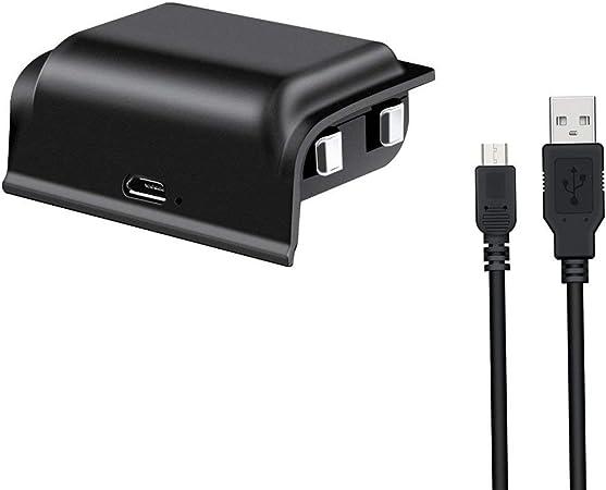 Ocamo For Dobe Xbox One - Batería Recargable (2 Unidades, 1200 mAh, batería Recargable para Xbox One/One S/One X/One Elite Controladores con Cable de Carga USB): Amazon.es: Hogar