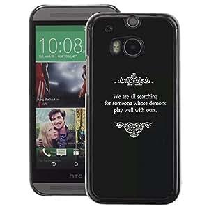 A-type Arte & diseño plástico duro Fundas Cover Cubre Hard Case Cover para HTC One M8 (Old Movies Religious God Black White)