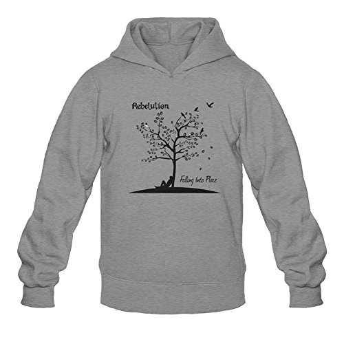 XIULUAN Men's Rebelution Band Falling Into Place 2016 Hooded Sweatshirt Size XL ColorName (Rebelution Band)