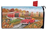 Briarwood Lane Autumn Bridge Magnetic Mailbox Cover Fall Pickup Truck Standard