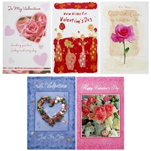 Assorted Valentine's cards - English - 24 Pack Sales