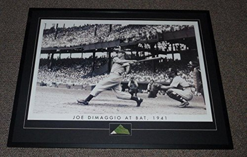 - Autographed Joe DiMaggio Photo - Framed 31x41 Poster Display The Swing - PSA/DNA Certified - Autographed MLB Photos