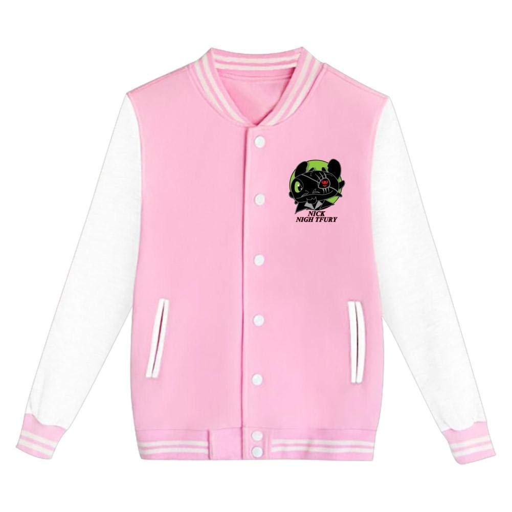 Youth Nick Night Fury Letterman Jacket Varsity Baseball Bomber Cotton Jacket
