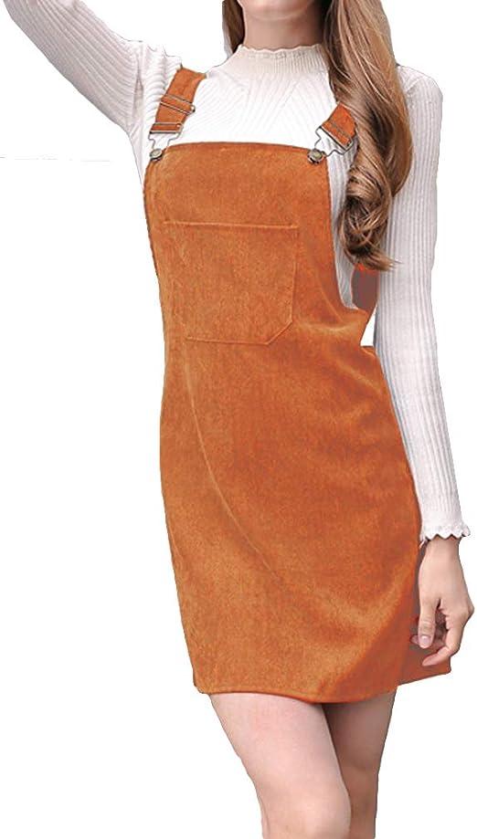 Mujer Recto Falda Pana Falda Vestido Falda Corta Color Sólido La ...