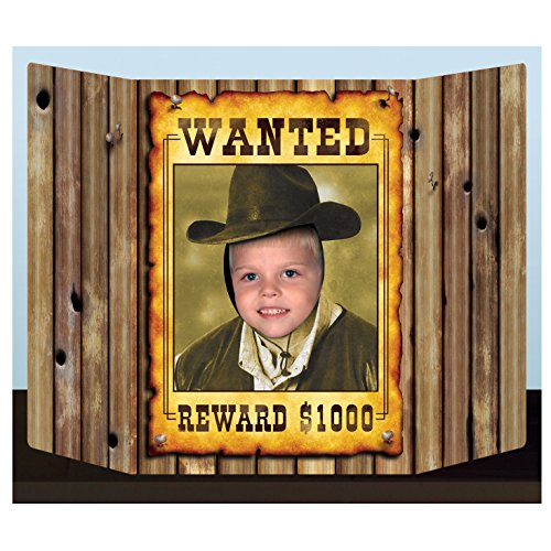 Wanted Poster Photo Prop Party Accessory (1 count) (1/Pkg) -