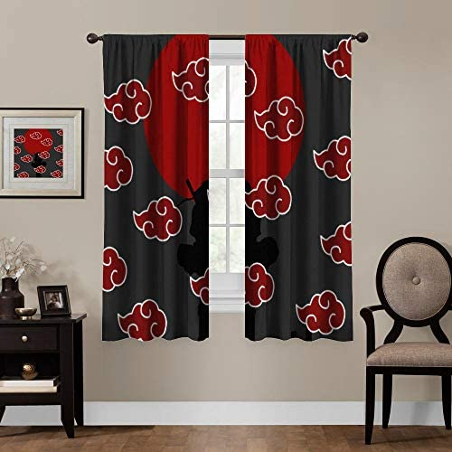 Blackout Curtains,Naruto Akatsuki Logo