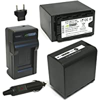 Wasabi Power 7800mAh Battery (2-Pack) & Charger for Panasonic VW-VBD58, VW-VBD78, AG-VBR89G and Panasonic AG-3DA1, AG-DVC30, AG-DVX200, AG-HPX255, AG-HVX201, AJ-PCS060, AJ-PX298, HC-X1000, HDC-Z10000