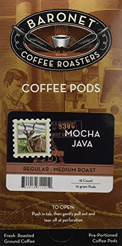 Baronet Coffee Mocha Java Coffee Pods, 54 -