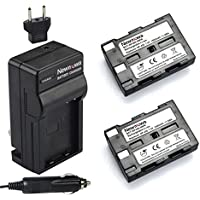 Newmowa NP-400 Battery (2-Pack) and Charger kit for Konica Minolta DiMAGE A1, DiMAGE A2, Dynax 5D, Dynax 7D, Maxxum 5D, Maxxum 7D