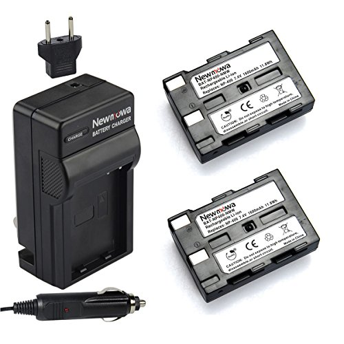 Newmowa NP-400 Battery (2-Pack) and Charger kit for Konica Minolta DiMAGE A1, DiMAGE A2, Dynax 5D, Dynax 7D, Maxxum 5D, Maxxum 7D ()