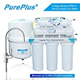 Pureplus 6-STAGE Under-Sink Reverse Osmosis Drinking Water Filtration System W/ LG Original RO Membrane and Anti-Leak Protector - 80GPD