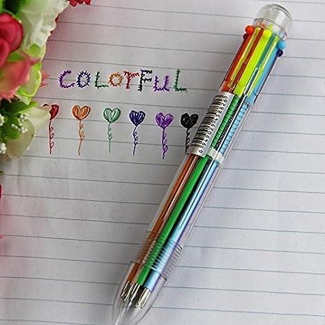 Boligrafo multicolor 6 colores en 1: Amazon.es: Hogar