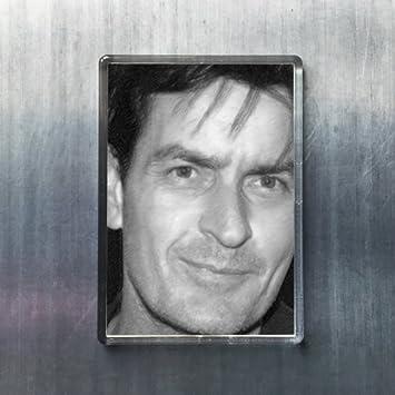 Amazoncom Seasons Charlie Sheen Original Art Fridge Magnet