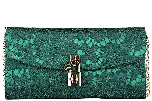 Dolce&Gabbana sac pochette femme dolce pizzo taormina vert