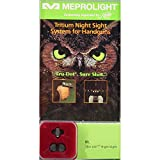 Meprolight Kimber Tru-Dot Night Sight for ''Slant'' Custom, Compact and Ultra - Fixed Set with Green Rear and Front Sight