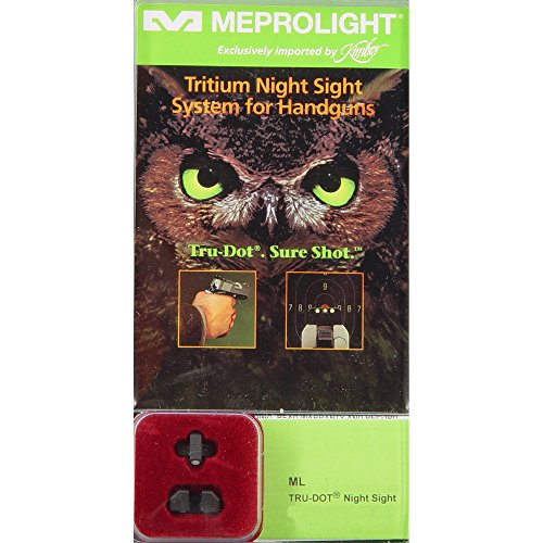 Meprolight Kimber Tru-Dot Night Sight for ''Slant'' Custom, Compact and Ultra - Fixed Set with Green Rear and Front Sight by Meprolight