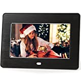 Micca M707z 7-Inch 800x480 High Resolution Digital Photo Frame With Auto On Off Timer - MP3 and Video Player (Black)