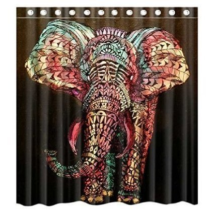 72-x-72-shower-curtain-with-hooks-bathroom-anti-bacterial-waterproof-custom-elephant-polyester-by-sh