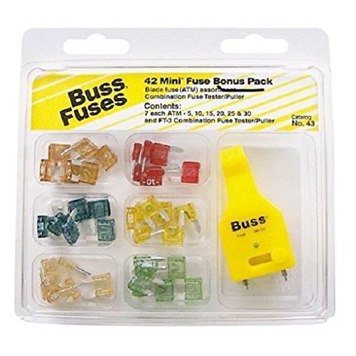 Bussman NO.43 Buss ATM Fuses 42 Piece Bonus Pack