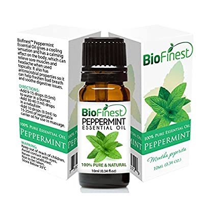 Peppermint Essential Oil - 100% Pure Undiluted - Therapeutic Grade - Premium Quality - Best For Aromatherapy - FREE Glass Dropper - 100ml (3.4 fl.Oz) ...