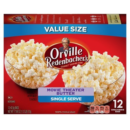 Mini Microwave Popcorn (Orville Redenbachers Gourmet Popcorn Movie Theater Butter 12 Count. Mini Single)