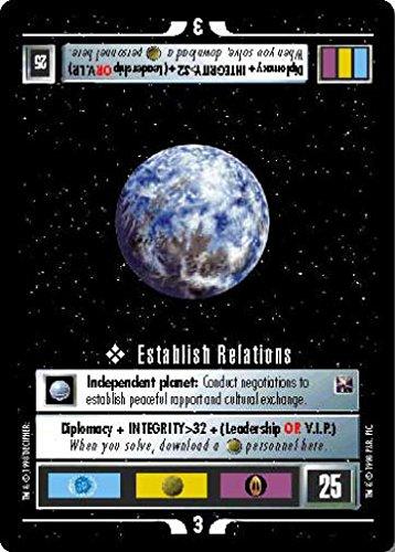(STAR TREK CCG 1E THE OFFICIAL TOURNAMENT DECK ESTABLISH RELATIONS)