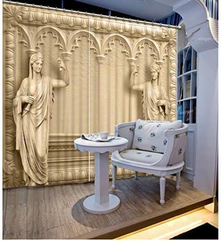 LQQBSTORAGE Blackout 3D Curtains Modern Curtain