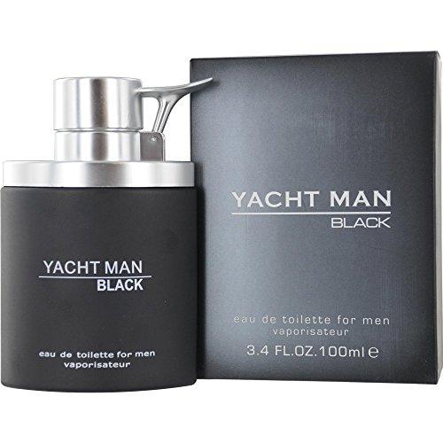 Myrurgia Yacht Man Black Eau de Toilette Spray for Men, 3.4 Ounce