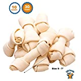 123 Treats - Dog Rawhide Chews Bones for Medium to Large Dogs 6-7'' (30 Count) 100% Natural Premium Bulk Treats