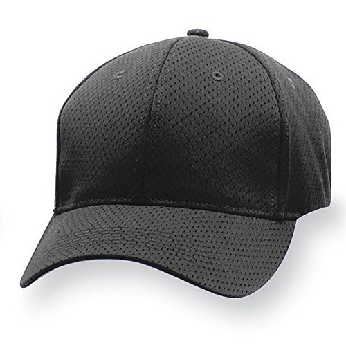 Augusta Sportswear Adult Sport Flex Athletic Mesh Cap L/XL Black Athletic Jersey Mesh Cap