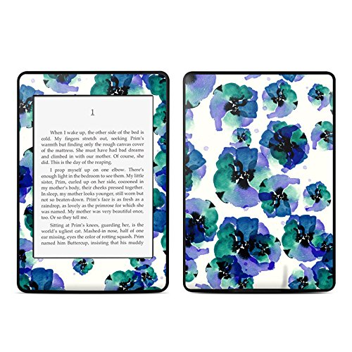 Blue Eye Flowers Design Protective Decal Skin Sticker for Amazon Kindle Paperwhite eBook Reader (2-point Multi-touch)