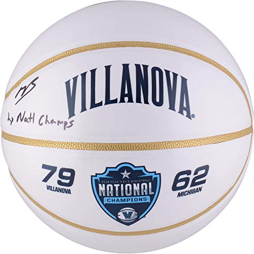 (Mikal Bridges Villanova Wildcats Autographed White Panel Basketball with