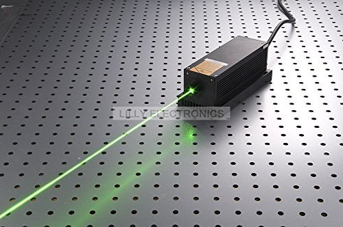 Q-BAIHE Powerful 1W Lab Lasers 532nm 1000mw Green Laser Dot Diode Module + TTL Modulation + TEC Cooling + 85-265V w/ OEM type Power Supply LSR-PS-NI+5V PSU (Laser Module 1000mw compare prices)