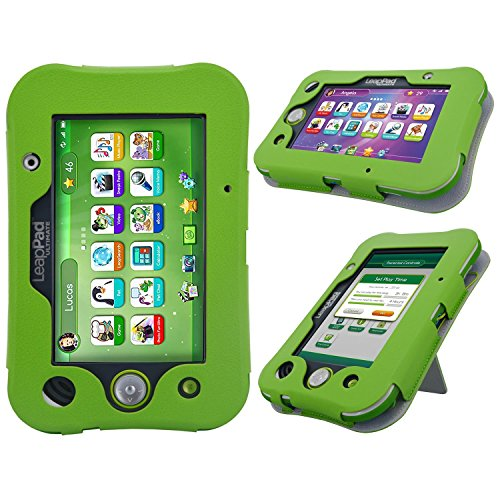 HOTCOOL LeapPad Ultimate Case New PU Leather with Kickstand Cover Case for Leapfrog LeapPad Ultimate Kids Tablet, Green (Leappad 3 Accessories)