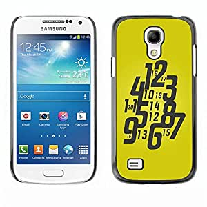 Be Good Phone Accessory // Dura Cáscara cubierta Protectora Caso Carcasa Funda de Protección para Samsung Galaxy S4 Mini i9190 MINI VERSION! // Typography Funky Yellow Watch